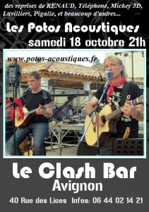 Avignon Clash Bar 18 10 2014 flyer