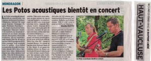 article Dauphiné Vaucluse Matin 23 02 2015
